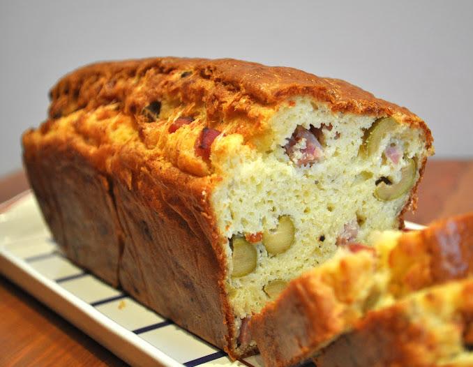 bacon and olive loaf or cake aux olives. Black Bedroom Furniture Sets. Home Design Ideas